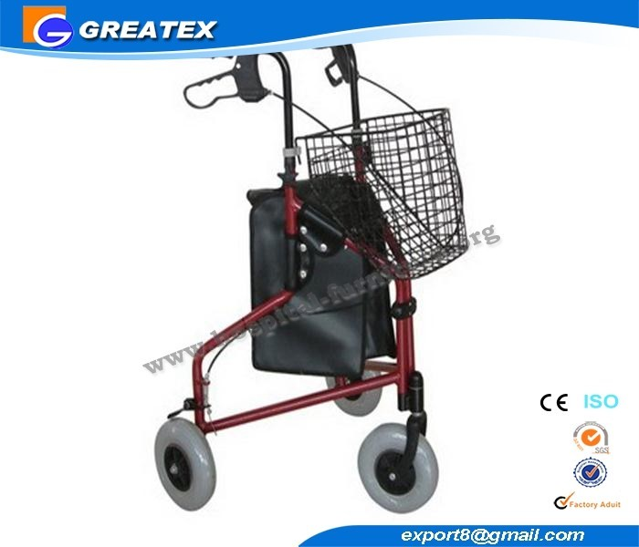 Tri-Wheel Aluminum Walker with cable brakes(GTX-WR2302)